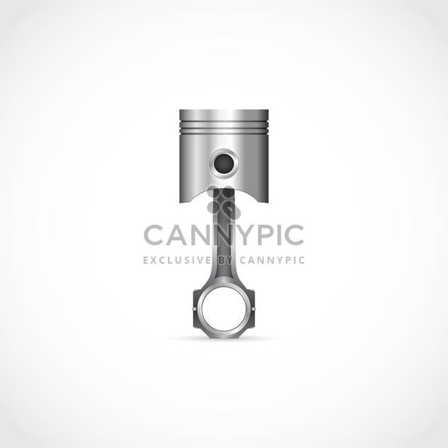 Vector illustration of single chrome piston detail on white background - Free vector #125735