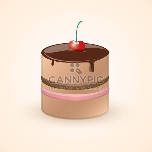 Vektor-Illustration von niedlichen süßen Schokoladenkuchen mit Sahnehäubchen auf rosa Hintergrund - Free vector #125765