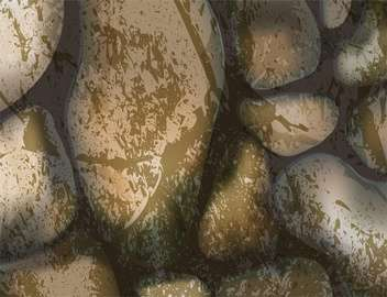 Vector illustration of brown stones background - vector gratuit #125955
