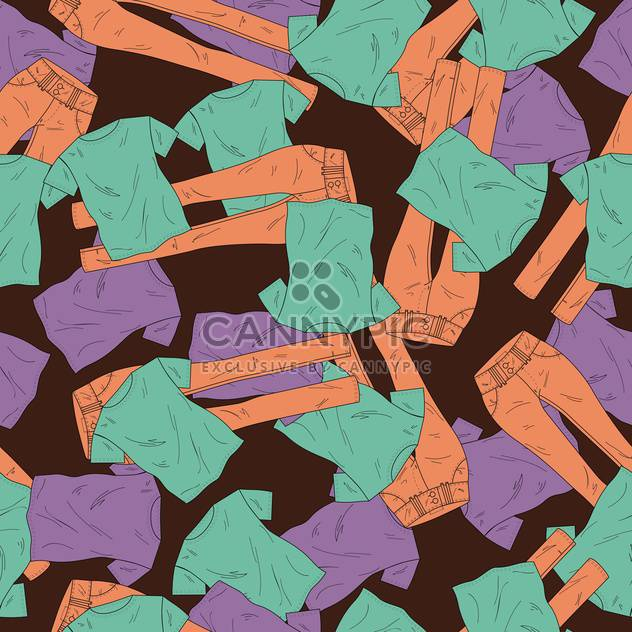 Vector background with fashionable pants and shirts - Free vector #126035