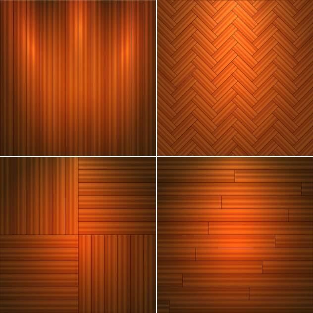 Vector illustration set of brown wooden textures - vector gratuit #126045