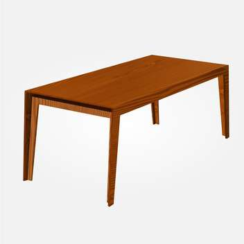 Vector illustration of wooden table on white background - vector gratuit(e) #126365