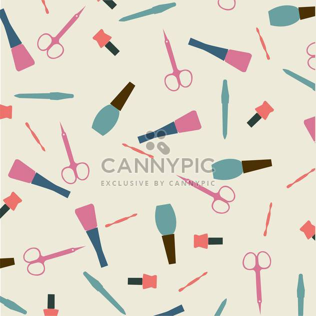 Vector illustration of female colorful manicure collection background - Free vector #126435