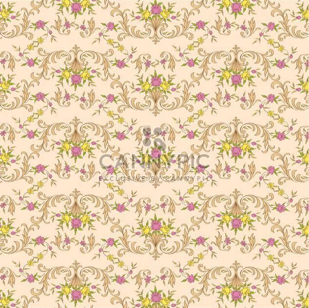 Vektor Vintage floral Beige Hintergrund mit Eleganz Dekoration Blumen - Kostenloses vector #126445