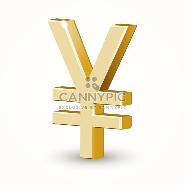Vektor-Illustration von golden Yen zu unterzeichnen, auf weißem Hintergrund - Free vector #126545