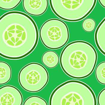 Vector illustration of background with green cucumbers - vector #126605 gratis