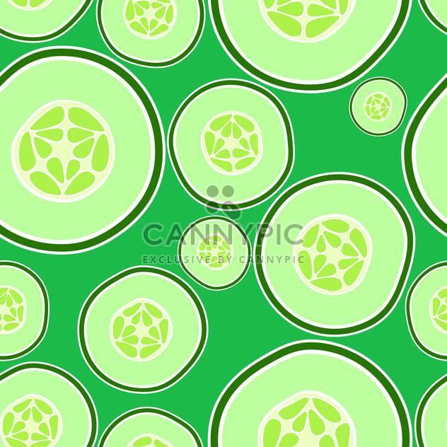 Vektor-Illustration des Hintergrunds mit grüne Gurken - Kostenloses vector #126605