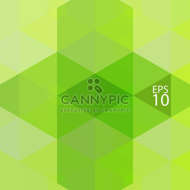 Abstract geometrical green color mosaic background - Free vector #126665