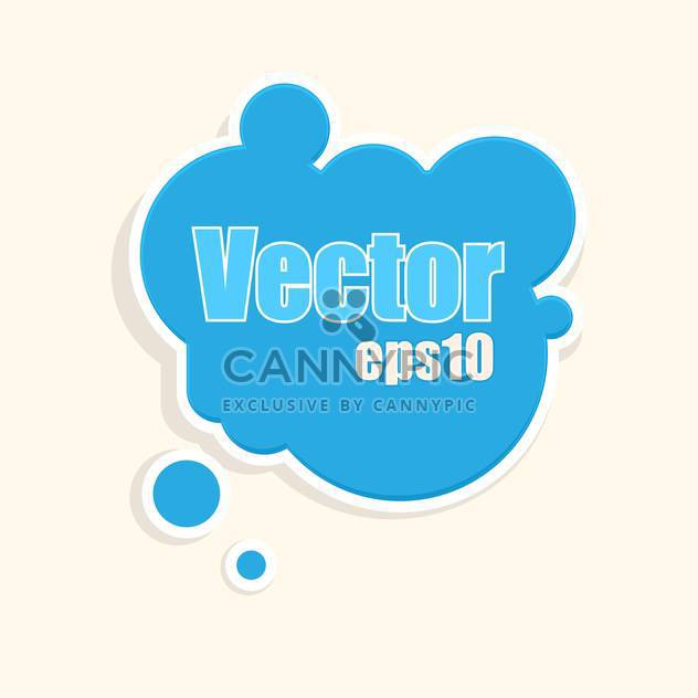 Vektor blase blau Hintergrund mit Text-Platz - Kostenloses vector #126705