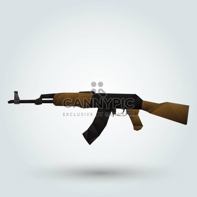 Kalashnikov automatic rifle on white background - Free vector #126725