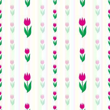 Vector background with blossom tulips flowers - vector gratuit #126915