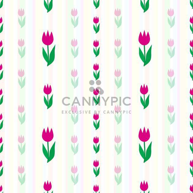 Vector background with blossom tulips flowers - Free vector #126915