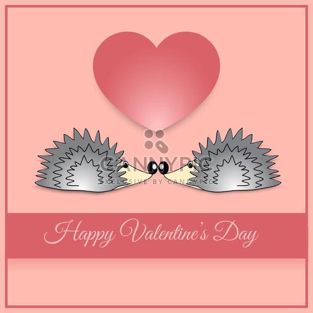 Vektor-Grußkarte mit Igel zum Valentinstag - Kostenloses vector #126945