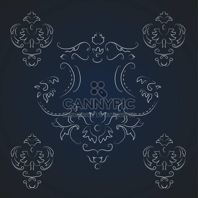 Vektor Jahrgang dunklen Hintergrund mit floralem Muster und text - Kostenloses vector #126955