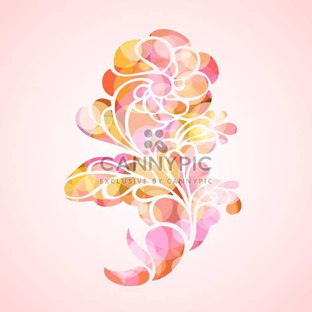 vector illustration of abstract floral background - Free vector #127015