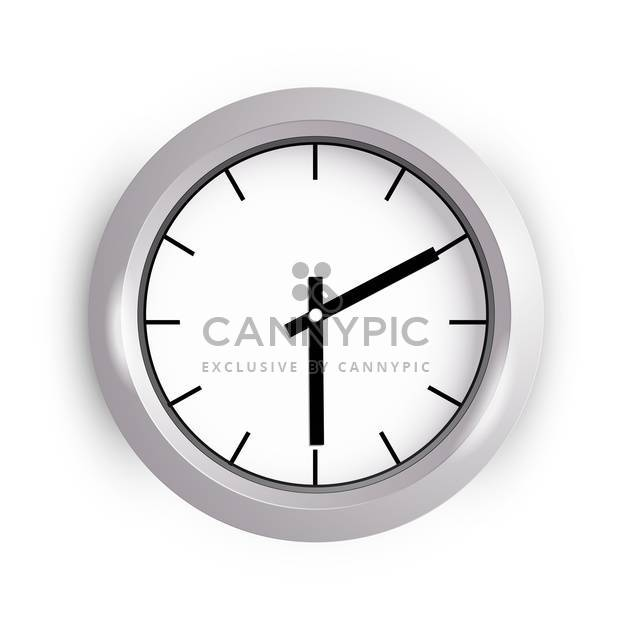 Vector illustration of wall clock on white background - Free vector #127095