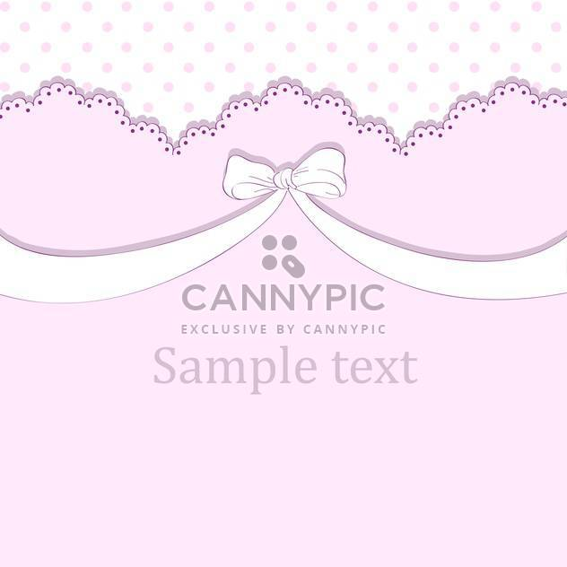 Vector pink background with bow and text place - Free vector #127135