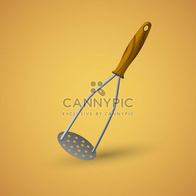 Vector kitchen tool for puree on brown background - Free vector #127145