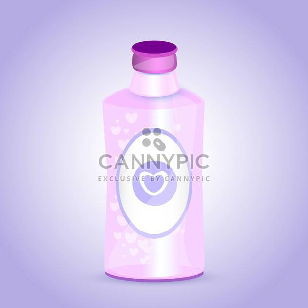 pink bottle with hearts on purple background - Free vector #127165