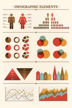 Big Vector collection of infographic elements for documents - Free vector #127205
