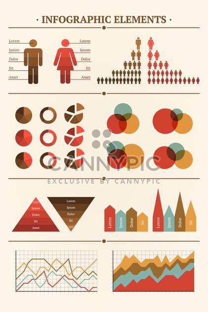 Große Sammlung von Vector Infographik Elemente für Dokumente - Free vector #127205
