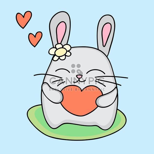 Schöne Kaninchen hält Liebe Herz in Händen - Kostenloses vector #127265