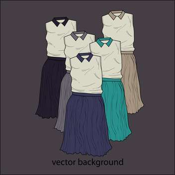 Vector dark background with female dresses - vector gratuit(e) #127355