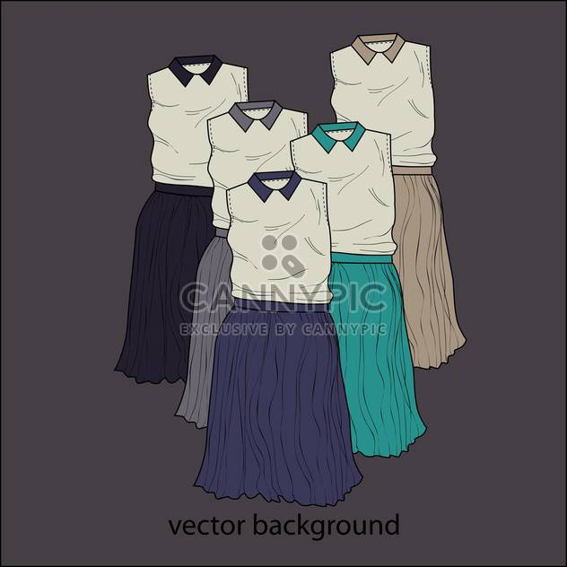 Vektor dunklen Hintergrund mit weiblichen Kleider - Kostenloses vector #127355