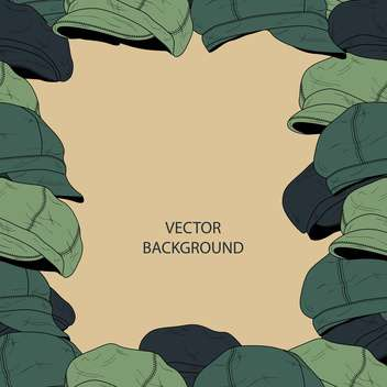 Vector background with fashion male hats - Free vector #127365
