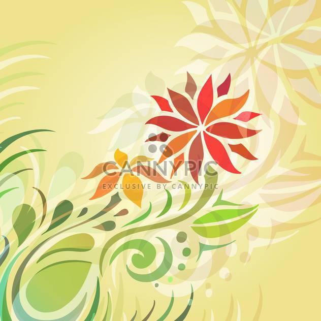 Vektor floral Background mit abstrakten Blumen - Kostenloses vector #127435