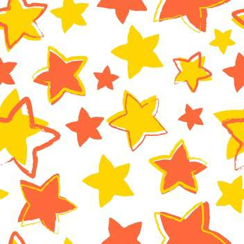 vector illustration with yellow and orange stars on white background - vector #127445 gratis