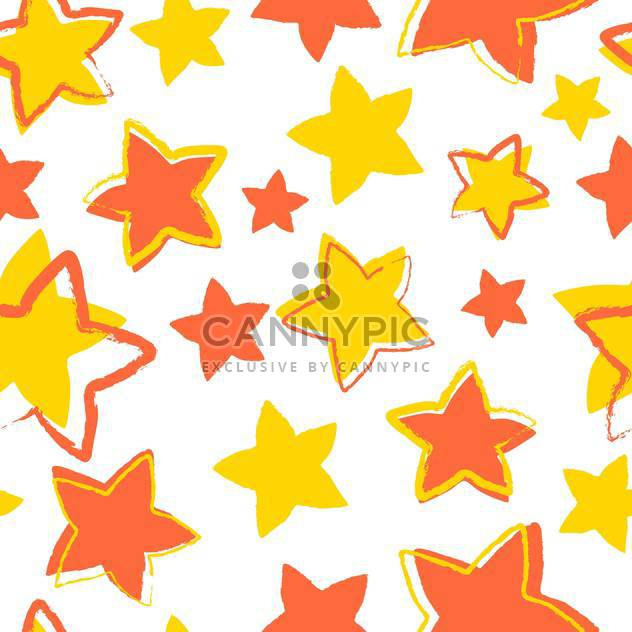 vector illustration with yellow and orange stars on white background - Free vector #127445