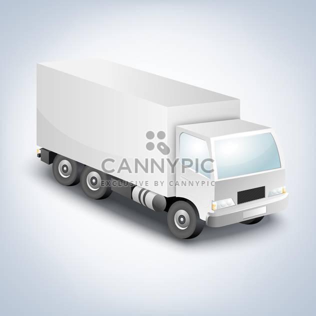 Vektor-Illustration von Lieferwagen auf weißem Hintergrund - Kostenloses vector #127485