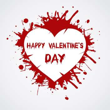 Valentines Day background with heart - Free vector #127605