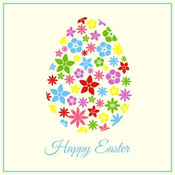 holiday background with colorful floral easter egg - vector gratuit(e) #127625