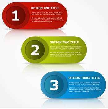 colorful three options banners - бесплатный vector #127635