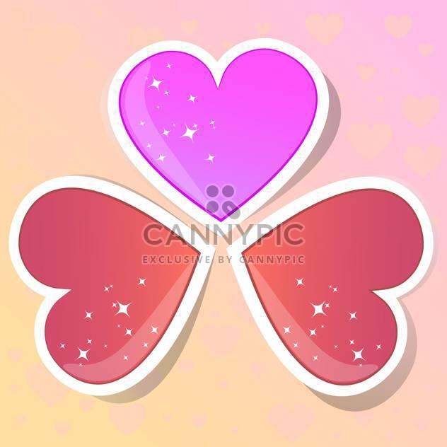 Valentinstag Herzen auf farbigen Hintergrund - Kostenloses vector #127725