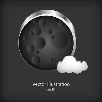 Vector metal speech bubble on metal background - vector gratuit #127765