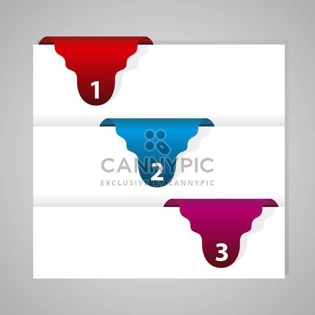 vector set of colored banners with numbers - Free vector #127895