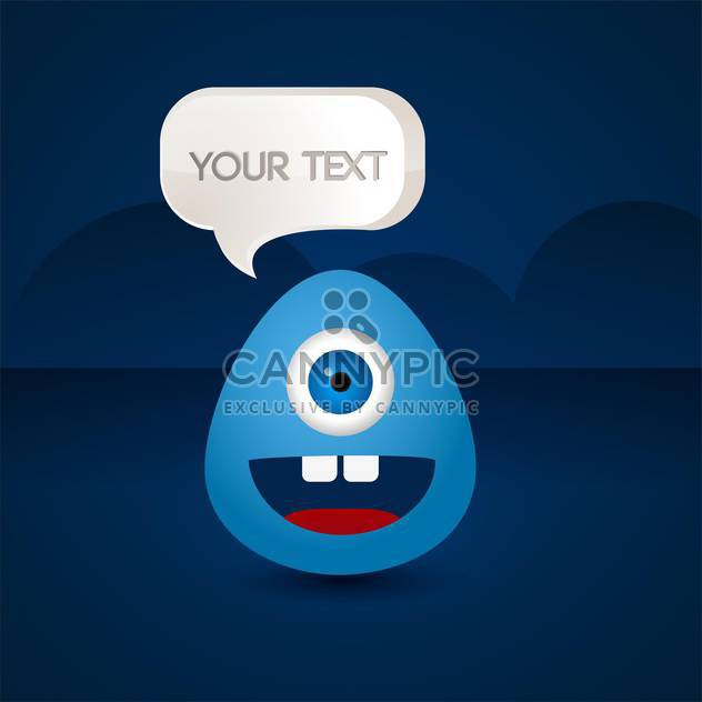 blue creature with text place on blue background - Free vector #127915