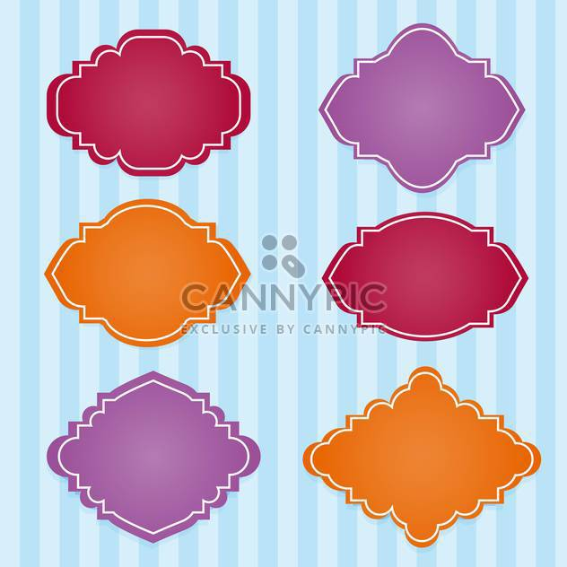 Vector set of vintage colorful frames - Free vector #127965