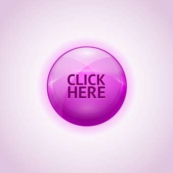Vector violet round shaped design element with click here text on white background - Free vector #127985