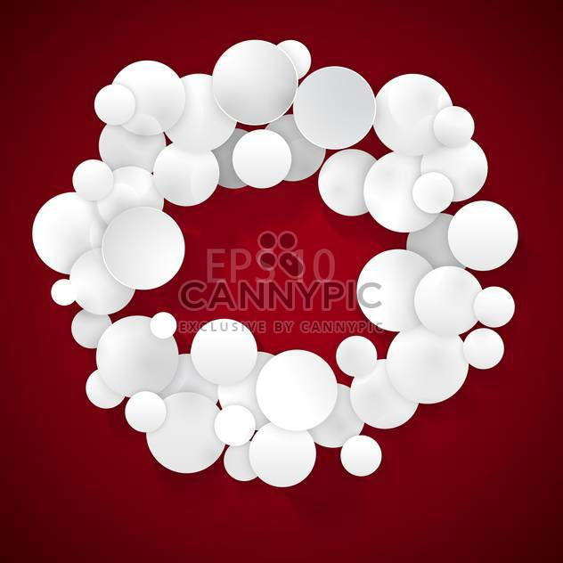 white bubbles on red background with text place - Free vector #128015