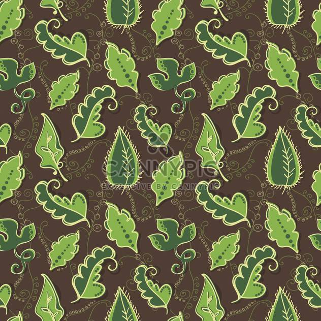 Vector background with green leaves - Free vector #128115