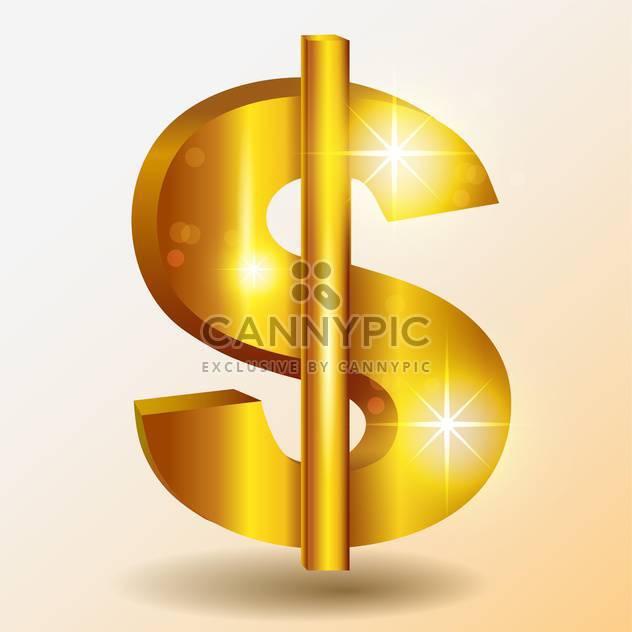 Golden shiny dollar vector sign - Free vector #128145