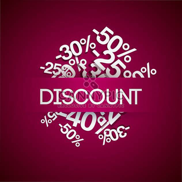 Prozent Rabatt Verkauf Hintergrund - Kostenloses vector #128175