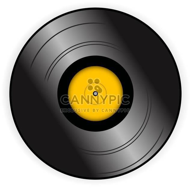 Vinyl-Rekord Vektor-Symbol, isoliert auf weißem Hintergrund - Kostenloses vector #128205