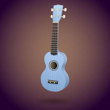 blue ukulele little guitar vector illustration - vector gratuit(e) #128235