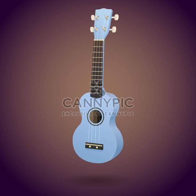blaue Ukulele kleine Gitarre-Vektor-illustration - Kostenloses vector #128235