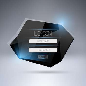 Modern login web form - Free vector #128275